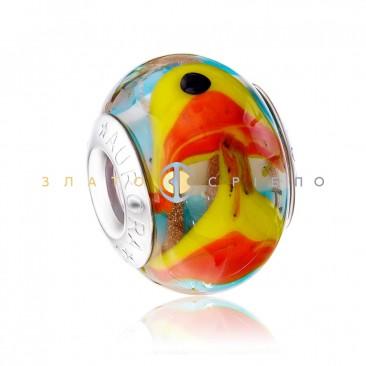 Серебряный шарм «Золотая рыбка»