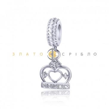 Серебряный шарм «Корона принцессы»