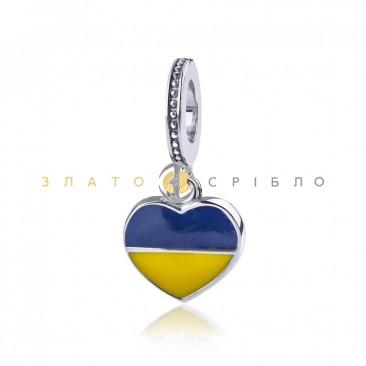 Серебряный шарм «Ukraine my love»