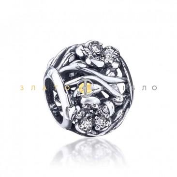 Серебряный шарм «Цветы на лугу»
