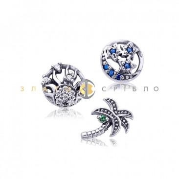 Серебряные шармы-миниатюры «Экзотика»