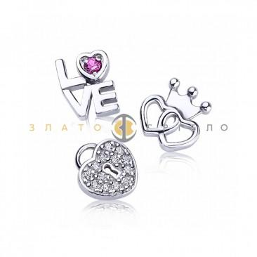 Серебряные шармы-миниатюры «Love»