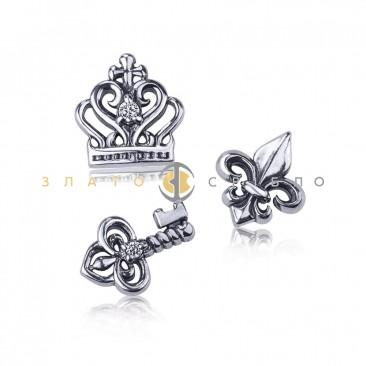 Серебряные шармы-миниатюры «Власть»