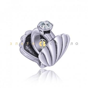 Серебряный шарм «Романтическое признание»