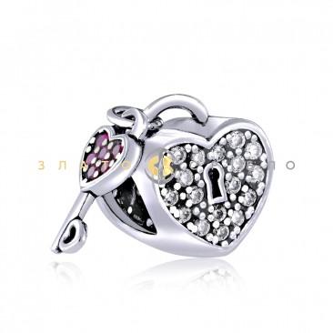 Серебряный шарм «Ключ к сердцу»