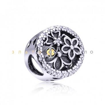 Серебряный шарм «Полевые цветы»