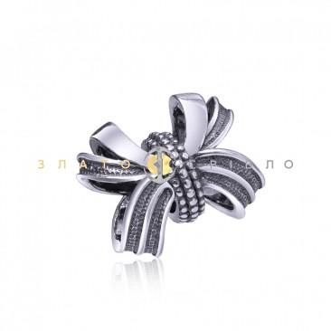 Серебряный шарм «Модный бантик»