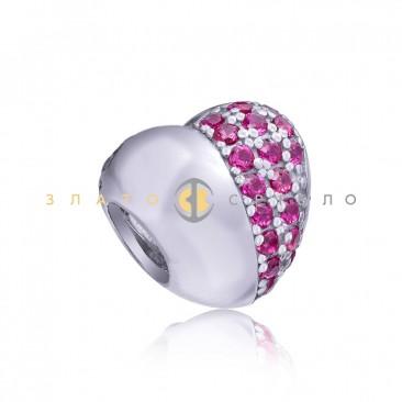 Серебряный шарм «О любви»