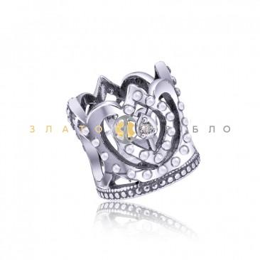 Серебряный шарм «Королевское сияние»
