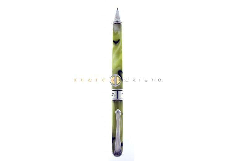 """Кулькова срібна ручка """"Cesare Emiliano"""" в жовтій емалі(тонка)"""
