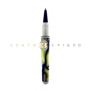 """Кулькова срібна ручка """"Cesare Emiliano"""" в жовтій емалі"""