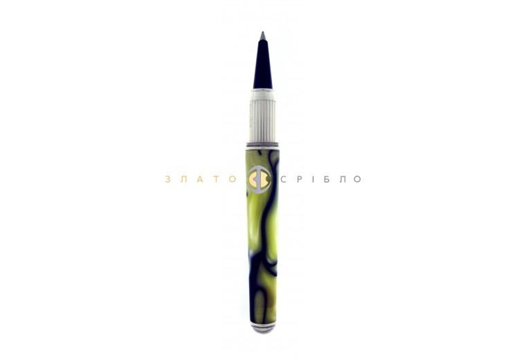 """Шариковая серебряная ручка """"Cesare Emiliano"""" в желтой эмали"""