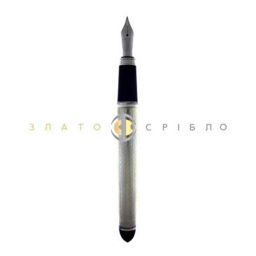 """Пір'яна срібна ручка """"Cesare Emiliano"""" в узорах"""