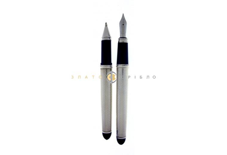 """Шариковая серебряная ручка """"Cesare Emiliano""""   в узорах"""