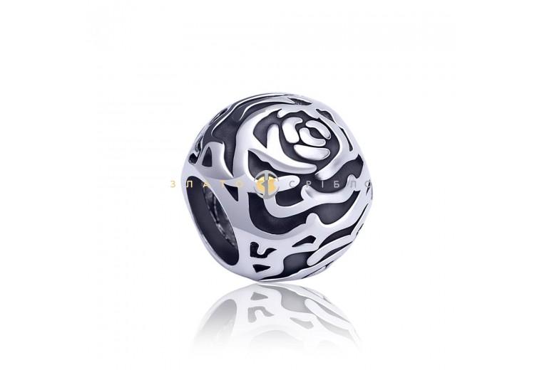 Серебряный шарм «Rose»