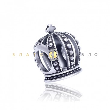 Серебряный шарм «Корона»