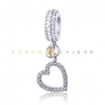 Серебряный шарм «Волшебное сердце»