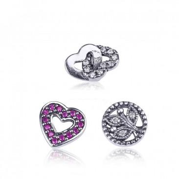 Серебряные шармы-миниатюры «Бесконечная любовь»