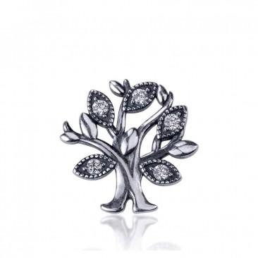 Серебряные шарм-миниатюра «Семейное дерево»