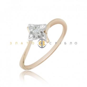 Золота каблучка «Елізе» з діамантом f49af65206c5d