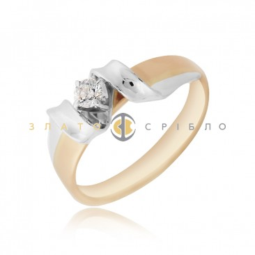 Золота каблучка «Angel» з діамантом