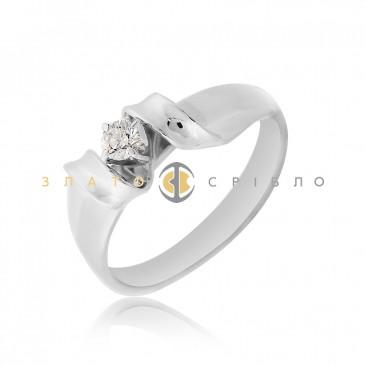 Каблучка у білому золоті «Angel» з діамантом