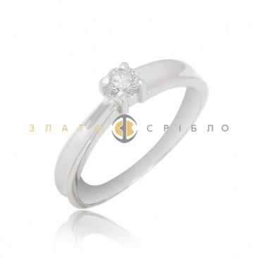 Золота каблучка «Армі» з діамантом