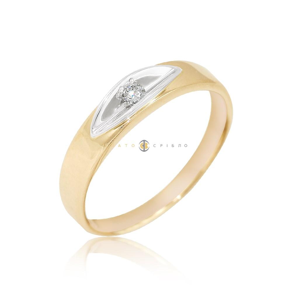 Золота каблучка «Amour» з діамантом в интернет-магазине «ЗлатоСрібло» 6d26fa3b13ac1