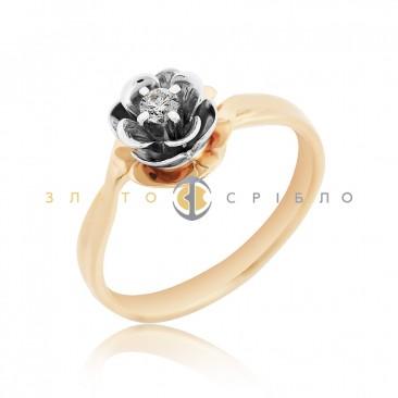 Золота каблучка «Dream» з діамантом