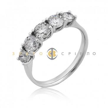 Золота каблучка «Богема» з діамантом