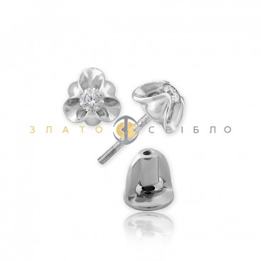 Золотые пуссеты «Момент» с бриллиантами