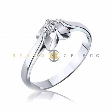 Кольцо в белом золоте «Classic» с бриллиантом