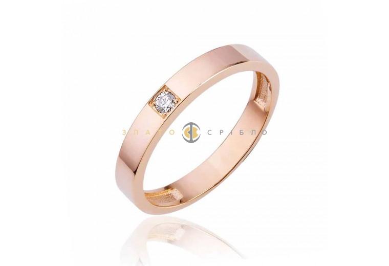 Золотое кольцо «Авиньен» с бриллиантом