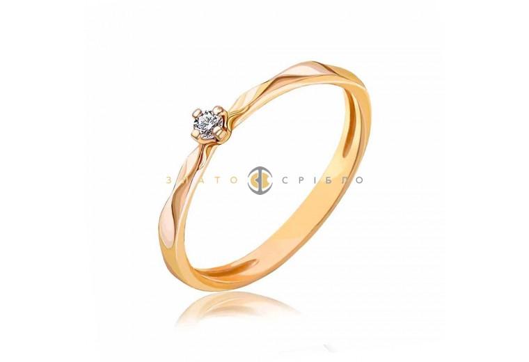 Золотое кольцо «Shain» с бриллиантом