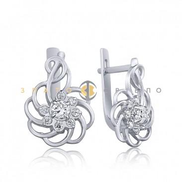 Срібні сережки «Фантазія»