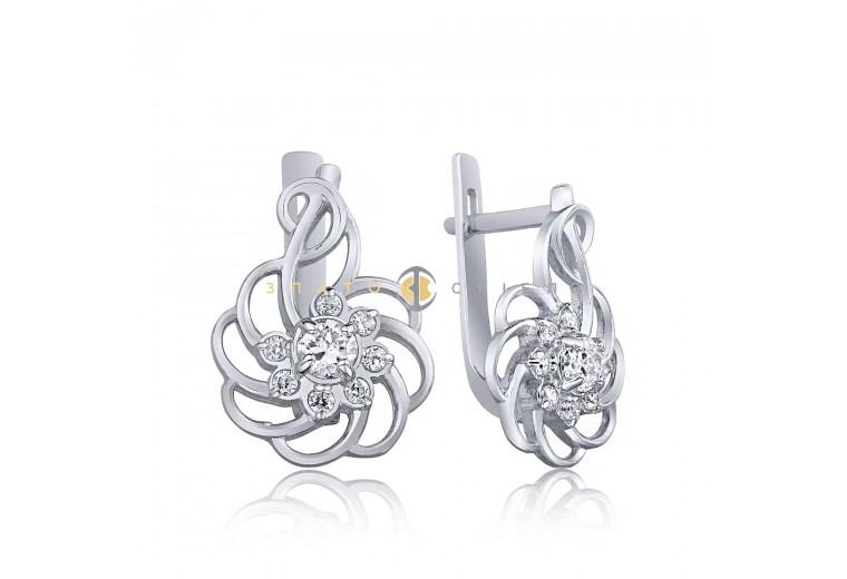 Серебряные серьги «Фантазия»