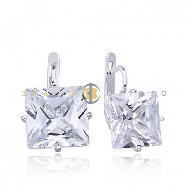 Серебряные серьги «Желанная» с белыми фианитами