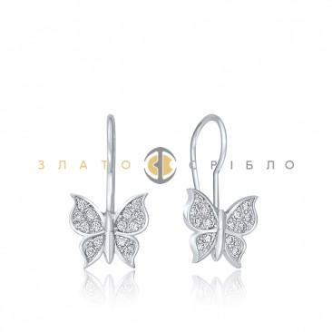 """Дитячі срібні сережки """"Метелики"""""""
