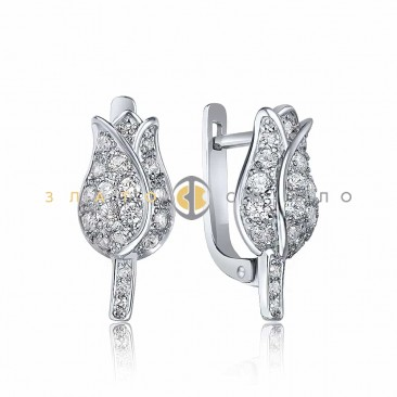 Срібні сережки «Тюльпан»