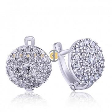 Срібні сережки «Світанок»