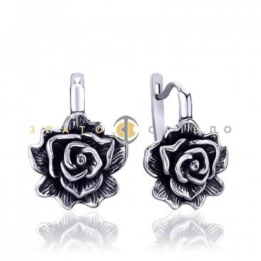 Серебряные серьги «Королева цветов»