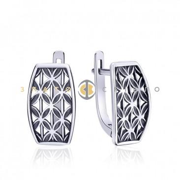 Серебряные серьги «Арабеска»