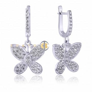 Серебряные серьги «Цветочная фея»