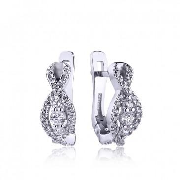 Серебряные серьги «Миранда»