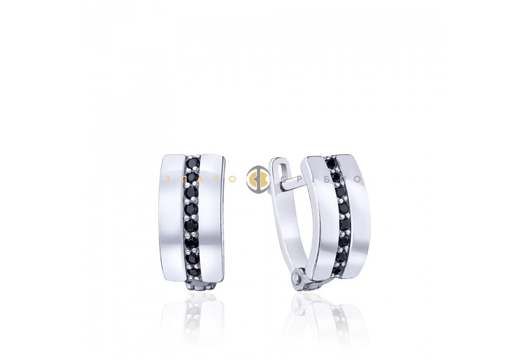 Серебряные серьги «Дорожка»