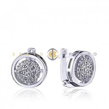 Серебряные серьги «Подсолнух»