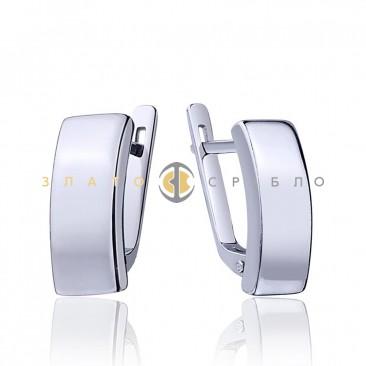 Серебряные серьги «Глянец»