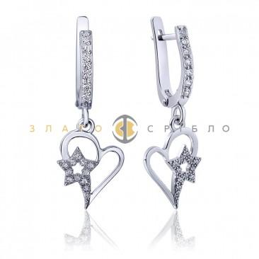 Серебряные серьги «Вечное сияние»