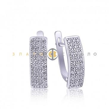 Серебряные серьги «Гейзер»