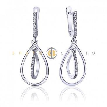 Серебряные серьги «Баядера»